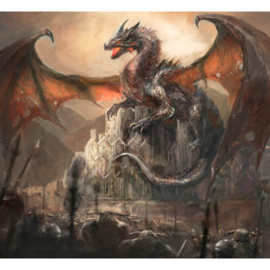 Fototapete – Dragon castle