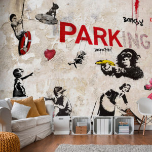 Fototapete – [Banksy] Graffiti Collage