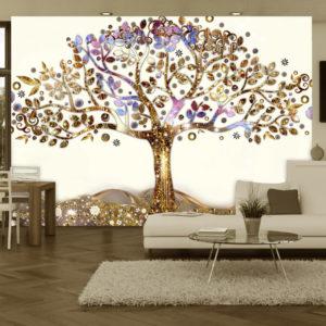 Fototapete – Goldener Baum