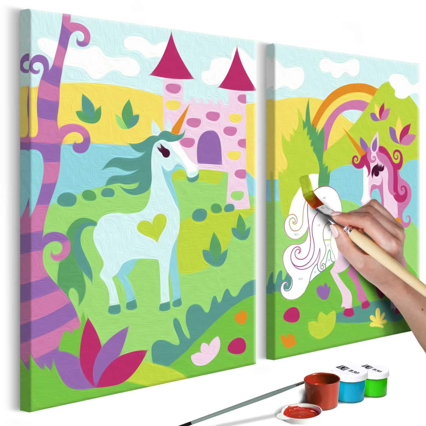 Malen Nach Zahlen Märchenhafte Einhörner