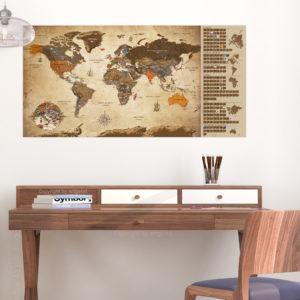 Rubbel Weltkarten